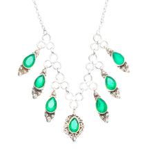 "Natural Chrysoprase Handmade Unique 925 Sterling Silver Necklace 16.5+1"" Y5411"