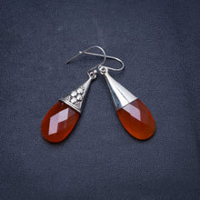 "Natural Carnelian Handmade Unique 925 Sterling Silver Earrings 1.75"" Y0229"