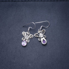 "Natural Amethyst Handmade Unique 925 Sterling Silver Earrings 1.25"" Y0497"