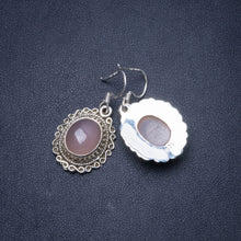 "Natural Rose Quartz Handmade Unique 925 Sterling Silver Earrings 1.25"" Y0591"