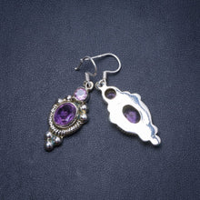 "Natural Amethyst Handmade Unique 925 Sterling Silver Earrings 1.75"" Y0721"
