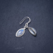 "Natural Rainbow Moonstone Handmade Unique 925 Sterling Silver Earrings 1.25"" Y1151"