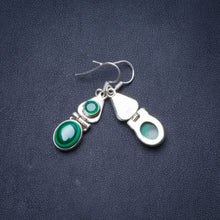 "Natural Malachite Handmade Unique 925 Sterling Silver Earrings 1.5"" Y1447"