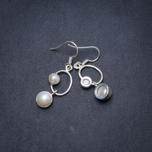 "Natural River Pearl Handmade Unique 925 Sterling Silver Earrings 1.5"" Y1523"