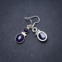 "Natural Amethyst Handmade Unique 925 Sterling Silver Earrings 1.25"" Y1693"