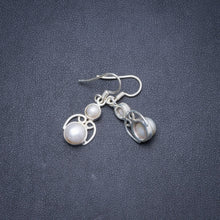 "Natural River Pearl Handmade Unique 925 Sterling Silver Earrings 1.25"" Y1751"