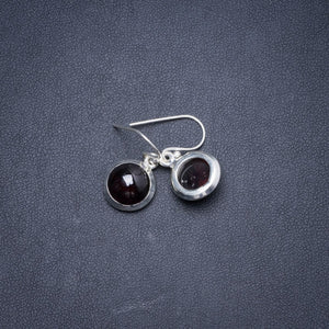 "Natural Amethyst Handmade Unique 925 Sterling Silver Earrings 1"" Y1760"