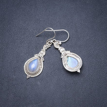 "Natural Rainbow Moonstone Handmade Unique 925 Sterling Silver Earrings 1.75"" Y1888"