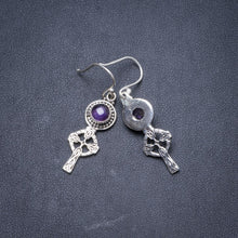 "Natural Amethyst Handmade Unique 925 Sterling Silver Earrings 1 3/4"" Y2193"