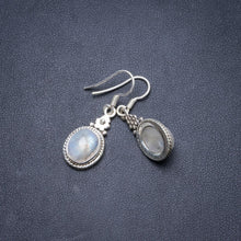 "Natural Rainbow Moonstone Handmade Unique 925 Sterling Silver Earrings 1 1/4"" Y2284"