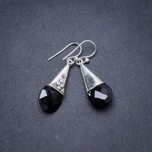 "Natural Black Onyx Handmade Unique 925 Sterling Silver Earrings 1 3/4"" Y2295"