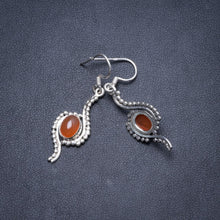 "Natural Carnelian Handmade Unique 925 Sterling Silver Earrings 1.75"" Y2429"