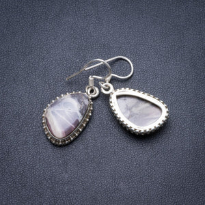 "Natural Royal Imperial Jasper Handmade Unique 925 Sterling Silver Earrings 1.25"" Y2537"