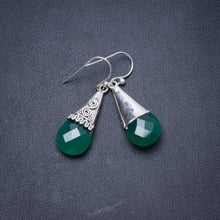 "Natural Chrysoprase Handmade Unique 925 Sterling Silver Earrings 1.5"" Y2934"