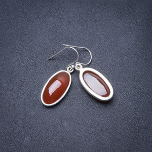 "Natural Carnelian Handmade Unique 925 Sterling Silver Earrings 1.5"" Y2946"
