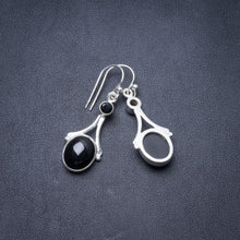 "Natural Black Onyx Handmade Unique 925 Sterling Silver Earrings 1.5"" Y3267"