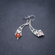 "Natural Carnelian Handmade Unique 925 Sterling Silver Earrings 1.5"" Y3505"