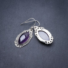 "Natural Amethyst Handmade Unique 925 Sterling Silver Earrings 1.5"" Y3764"