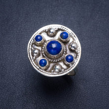 Natural Lapis Lazuli Handmade Unique 925 Sterling Silver Ring 6.25 Y4086