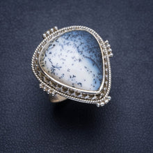 Natural Dendritic Opal Handmade Unique 925 Sterling Silver Ring 6 Y4137