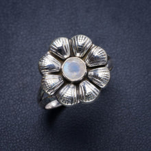 Natural Rainbow Moonstone Handmade Unique 925 Sterling Silver Ring 9.5 Y4256