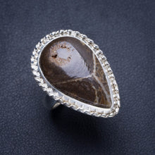 Natural Chrysanthemum Jasper Handmade Unique 925 Sterling Silver Ring 6 Y4282