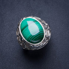 Natural Malachite Handmade Unique 925 Sterling Silver Ring 7 Y4284