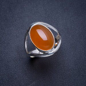 Natural Carnelian Handmade Unique 925 Sterling Silver Ring 6.25 Y4381
