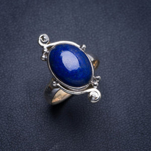 Natural Lapis Lazuli Handmade Unique 925 Sterling Silver Ring 6.25 Y4384