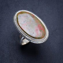 Natural Unakite Handmade Unique 925 Sterling Silver Ring 8.25 Y4440