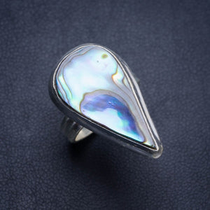 Natural Abalone Shell Handmade Unique 925 Sterling Silver Ring 5.75 Y4484