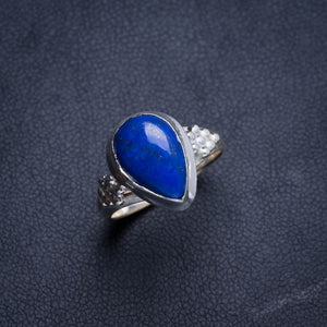Natural Lapis Lazuli Handmade Unique 925 Sterling Silver Ring 6 Y4526