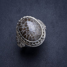 Natural Stingray Coral Handmade Unique 925 Sterling Silver Ring 6 Y4551