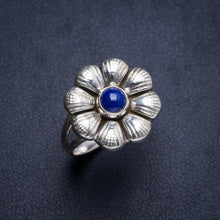 Natural Lapis Lazuli Handmade Flower 925 Sterling Silver Ring 8 Y4598