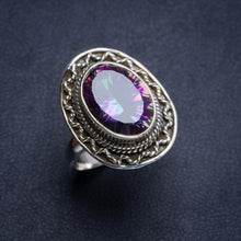Natural Mystical Topaz Handmade Unique 925 Sterling Silver Ring 7.75 Y4625