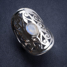 Natural Rainbow Moonstone Handmade Unique 925 Sterling Silver Ring 7.5 Y4744