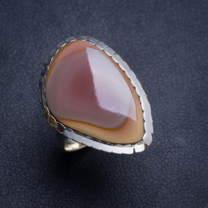 Natural Imperial Jasper Handmade Unique 925 Sterling Silver Ring 7.5 Y4775