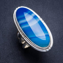Natural Botswana Agate Handmade Unique 925 Sterling Silver Ring 6.25 Y4894