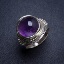 Natural Amethyst Handmade Unique 925 Sterling Silver Ring 6.5 Y4922