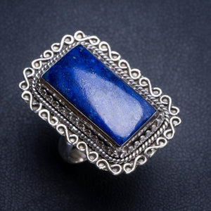 Natural Lapis Lazuli Handmade Unique 925 Sterling Silver Ring 6 Y4925