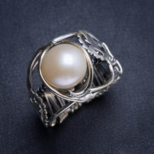 Natural River Pearl Handmade Unique 925 Sterling Silver Ring 7 Y4933