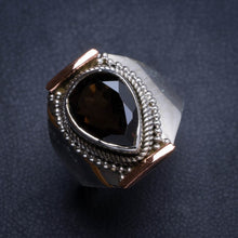 Natural Smoky Quartz Handmade Unique 925 Sterling Silver Ring 9.25 Y4948