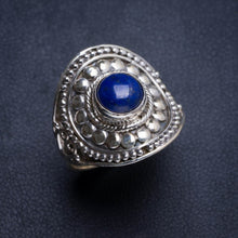 Natural Lapis Lazuli Handmade Unique Boho 925 Sterling Silver Ring 8.75 Y5024