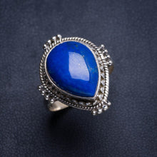 Natural Lapis Lazuli Handmade Unique 925 Sterling Silver Ring 8.5 Y5025