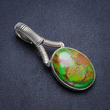 "Natural Copper Turquoise Handmade Unique 925 Sterling Silver Pendant 1.75"" Y5218"