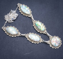 "Natural Abalone Shell Handmade Unique 925 Sterling Silver Necklace20.5+1.5"" Y5323"