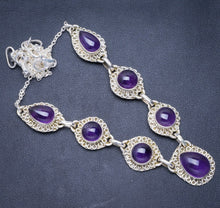 "Natural Amethyst Handmade Unique 925 Sterling Silver Necklace 18+2.75"" Y5527"