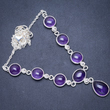 "Natural Amethyst Handmade Unique 925 Sterling Silver Necklace 17.5+1.5"" Y5533"