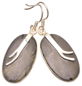 "Natural Picasso Jasper Handmade Unique 925 Sterling Silver Earrings 1.75"" W0063"