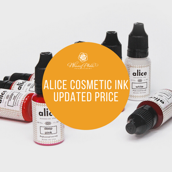 ALICE COSMETIC INK UPDATED PRICE FOR 2020
